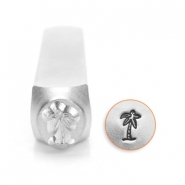 ImpressArt design stamps palm tree 6mm Silver