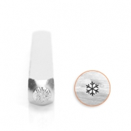 ImpressArt design stamps snow flake 3mm Silver
