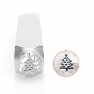 ImpressArt design stamps Christmass tree 6mm Silver