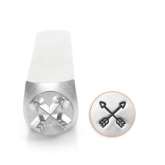 ImpressArt design stamps crossed arrows 6mm Silver
