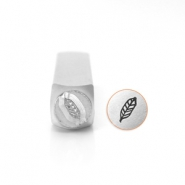 ImpressArt design stamps feather 6mm Silver