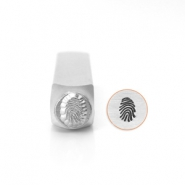 ImpressArt design stamps fingerprint 6mm Silver