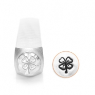 ImpressArt design stamps 4 leaf clover 6mm Silver