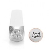ImpressArt design stamps 'hand made' 6mm Silver