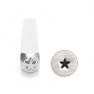 ImpressArt design stamps solid star 3mm Silver