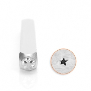 ImpressArt design stamps angled solid star 3mm Silver