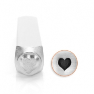 ImpressArt design stamps heart 6mm Silver