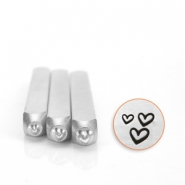 ImpressArt design stamps hearts 3 pack Silver