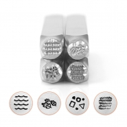 ImpressArt texture stamps series 4, 4pack Silver