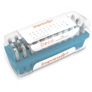 ImpressArt Deco letter stamps set Lowercase 3mm Blue