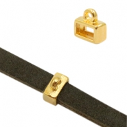 DQ metal sliders with loop Ø5.1x2.1mm Gold (Nickel Free)