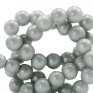 6 mm glass beads glitter dust Frosted Grey