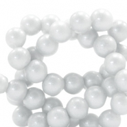 6 mm glass beads glitter dust Ice Grey