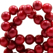 4 mm glass beads glitter dust Ruby Red