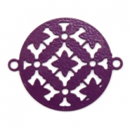 Bohemian connectors round 20mm Aubergine Purple
