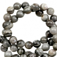 Shell beads round 8mm Multicolour Grey