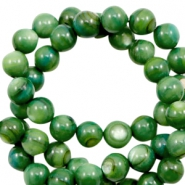 Shell beads round 6mm Classic Green