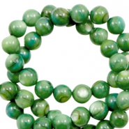 Shell beads round 4mm Classic Green