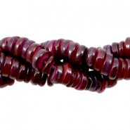 Shell beads disc 6mm Aubergine Red