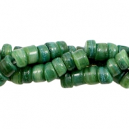 Shell beads disc 5-6mm Classic Green
