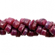 Shell beads disc 5-6mm Aubergine Red