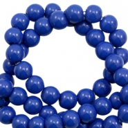 6 mm glass beads opaque Dazzling Blue