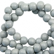 6 mm glass beads opaque Ice Grey