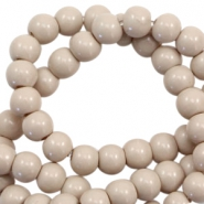 6 mm glass beads opaque Nude Taupe