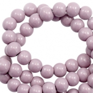 6 mm glass beads opaque Lovely Lavender Purple