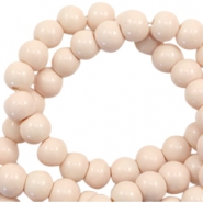 6 mm glass beads opaque Creamy Nude Pink