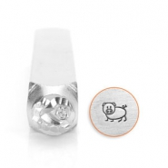 ImpressArt design stamps pig 6mm Silver