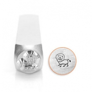 ImpressArt design stamps lion 6mm Silver