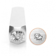 ImpressArt design stamps elephant 6mm Silver