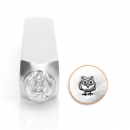ImpressArt design stamps owl 6mm Silver