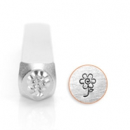 ImpressArt design stamps flower 6mm Silver