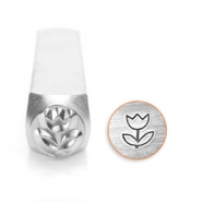 ImpressArt design stamps tulip 6mm Silver