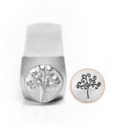 ImpressArt design stamps tree of life 9.5mm Silver