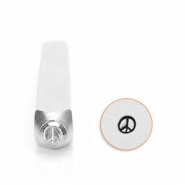 ImpressArt design stamps peace sign 3mm Silver