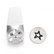 ImpressArt design stamps star 6mm Silver
