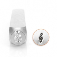 ImpressArt design stamps treble clef 6mm Silver