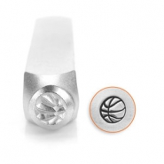 ImpressArt design stamps basketball 6mm Silver