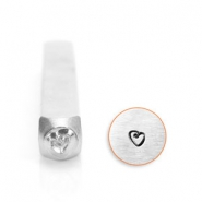 ImpressArt design stamps heart 3mm Silver