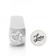 ImpressArt design stamps Love 6mm Silver