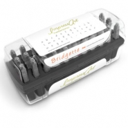 ImpressArt Bridgette letter stamps set Lowercase 3mm Premium Black