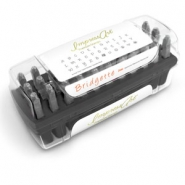 ImpressArt Bridgette letter stamps set Uppercase 3mm Premium Black