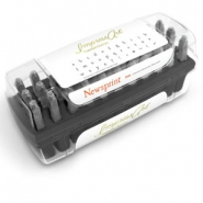 ImpressArt Newsprint letter stamps set Lowercase 3mm Premium Black