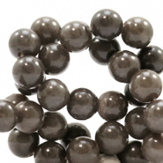 8 mm natural stone beads round Jade Dark grey