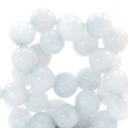 8 mm natural stone beads round Jade Ice Grey