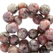 8 mm natural stone beads round Jade Mixed Natural Brown-Red