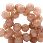 8 mm natural stone beads round Jade Light Chocolate Brown